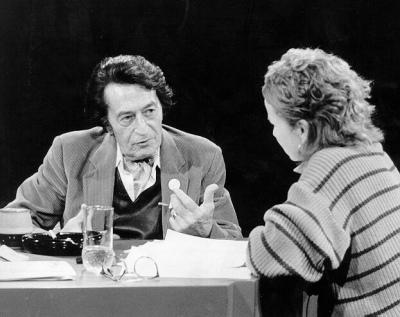 Laborit participant à une interview à, l'Université Laval de Québec (années 1980