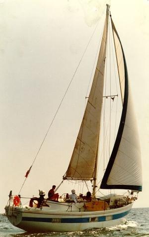 Le voilier CLEMENCE (années 1990)