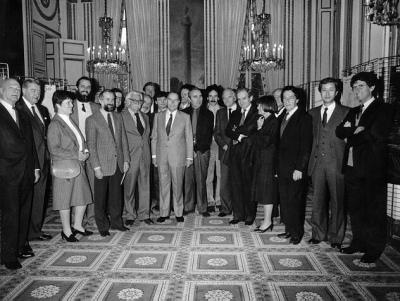 Réception à la Présidence de la République Française (13 déc. 1982)
