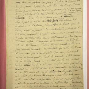 Une image du manuscrit du récit du naufrage du Siroco écrit par Laborit en 1940